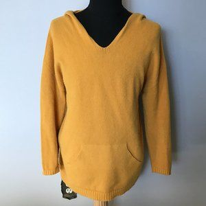 FLORENCIA Mustard Hooded Sweater